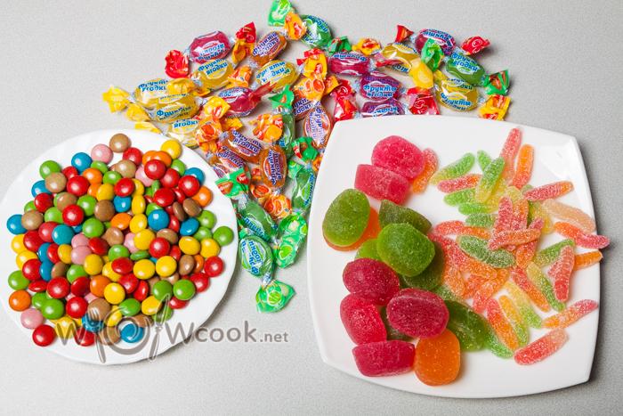 красочные сладости для украшения