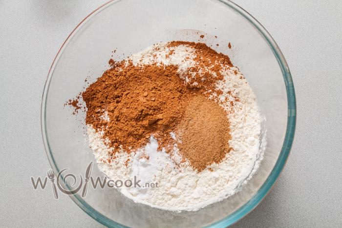мука, корица, какао, соль, сода
