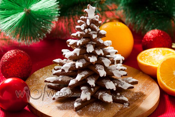 шоколадное печенье елочка на новый год