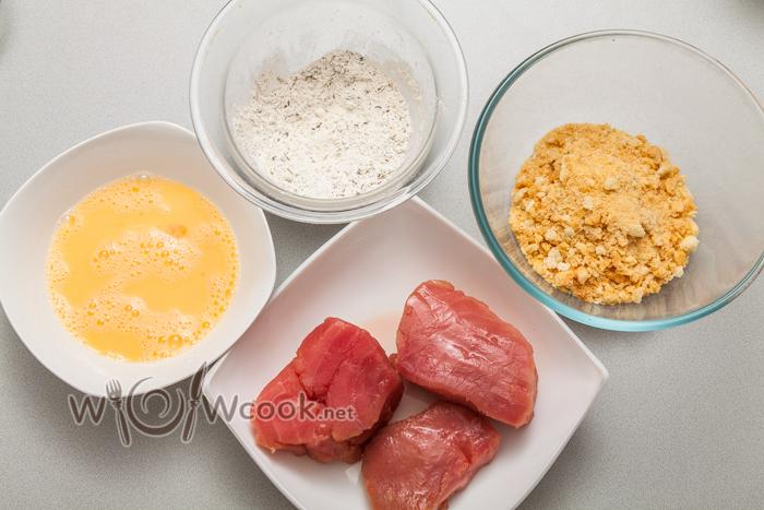 сухари, мука, тунец, яйца