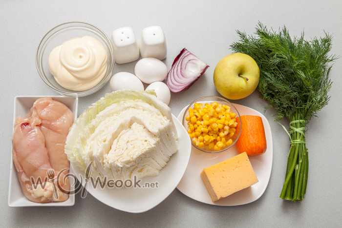ингредиенты для салата елочка