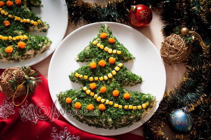 салат елка на новый год