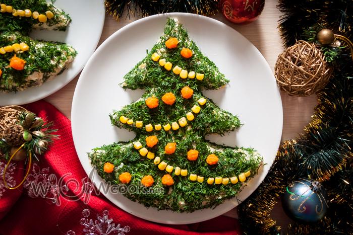 салат новогодняя елка, рецепт с фото
