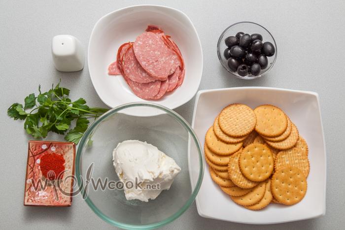 закуска на крекерах ингредиенты