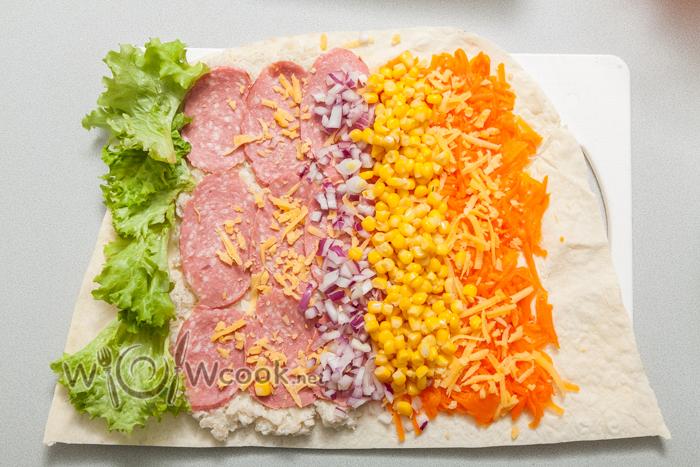 сбоку салат
