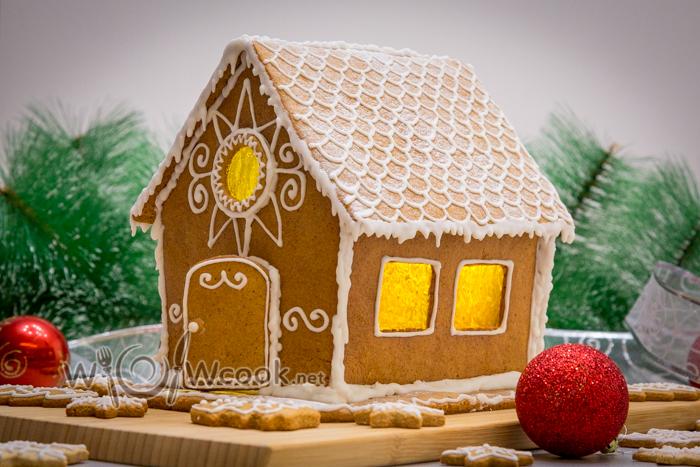 красивый и вкусный пряничный дом из имбирного теста
