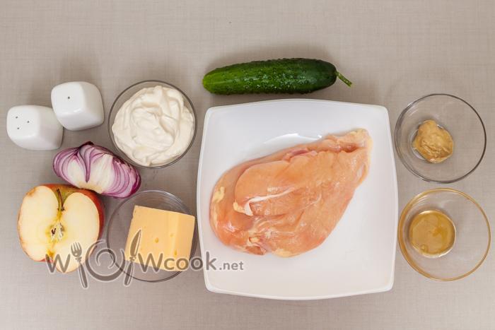 продукты для салата с курицей
