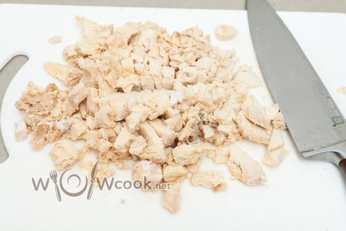 отварное с солью и перцем куриное филе