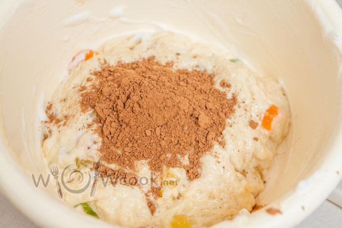 какао порошок в тесто