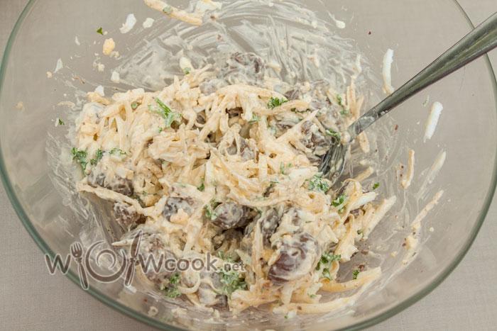 заправляем салат с печенью