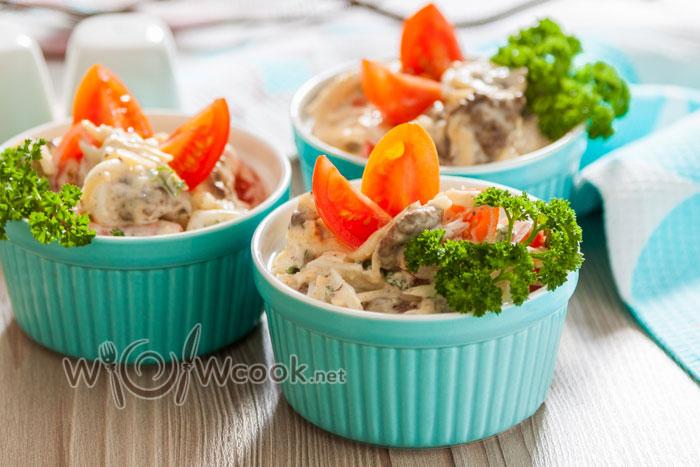 Салат с печенью куриной, рецепт с фото