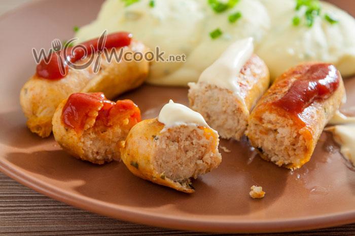 колбаски из курицы домашние