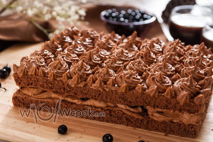 торт шоколадный простой рецепт с фото пошагово