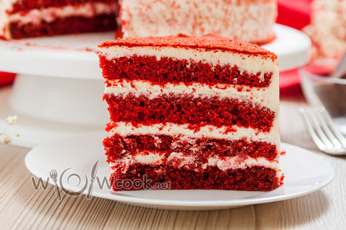 домашний торт красный бархат