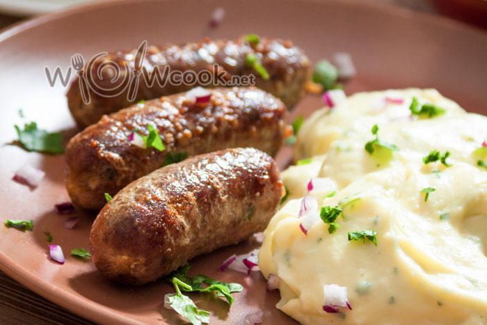 вкуснейшие домашние колбаски на сковороде