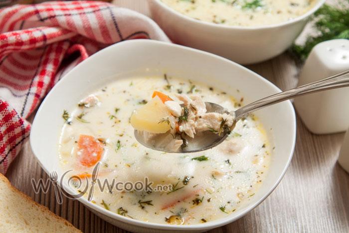 сырный куриный суп с плавленным сыром рецепт