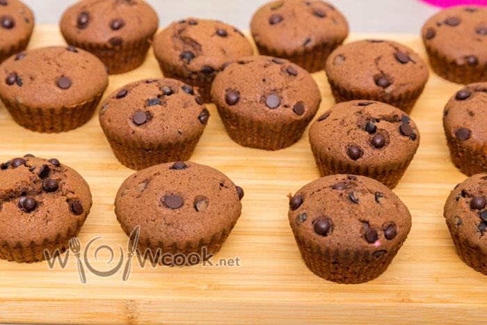 Шоколадные кексы в силиконовых формочках