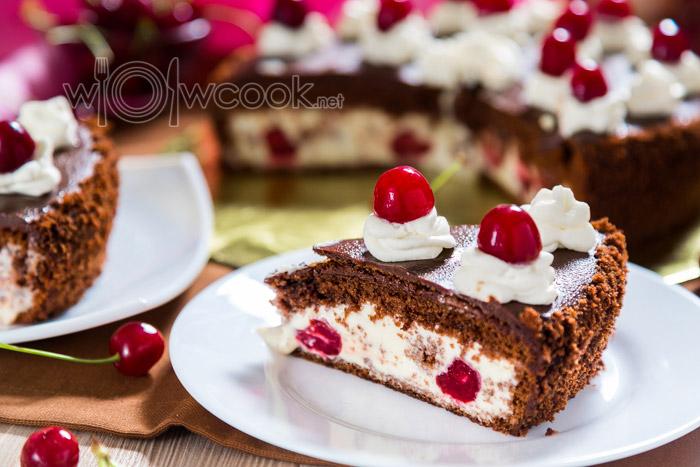 торт с вишней в коньяке