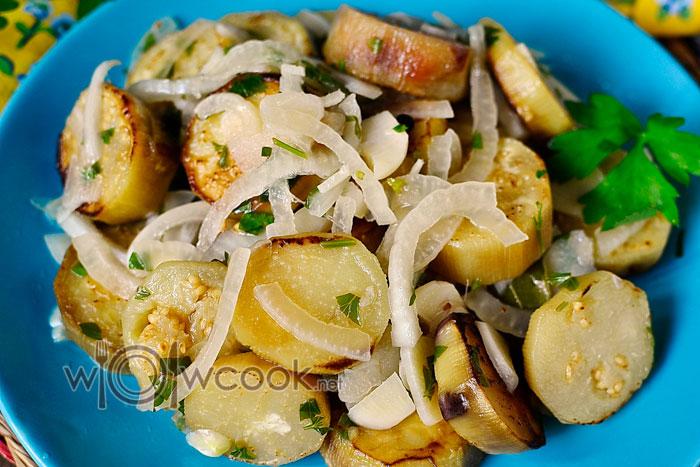 Баклажаны жареные как грибы, рецепт с фото