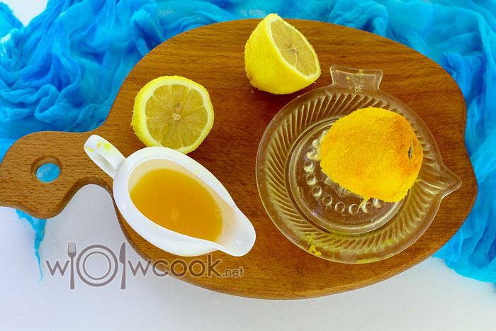 выдавливаем лимон