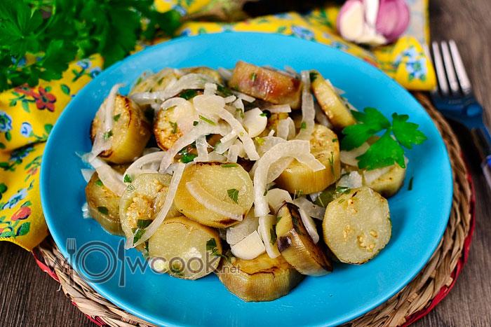 баклажаны жареные как грибы рецепт