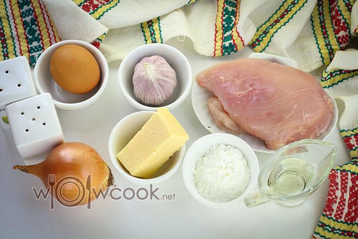 Ингредиенты для куриных растрепок