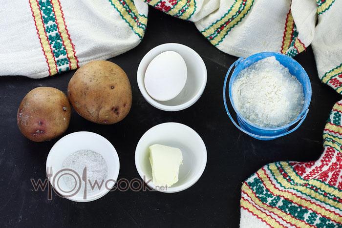 ингредиенты для ленивых вареников из картошки