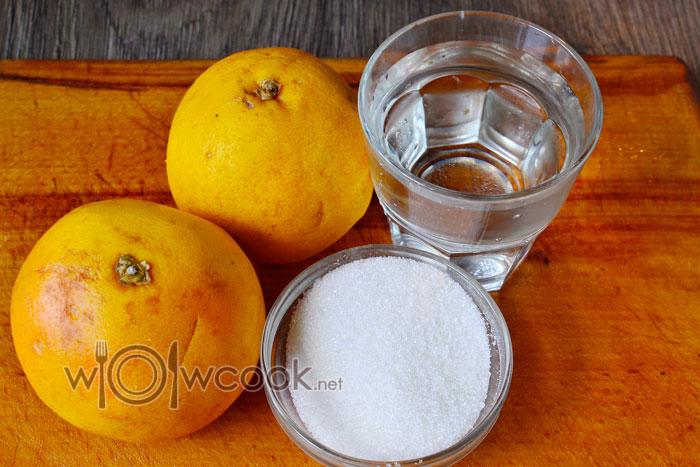 Ингредиенты для приготовления грейпфрутового морса