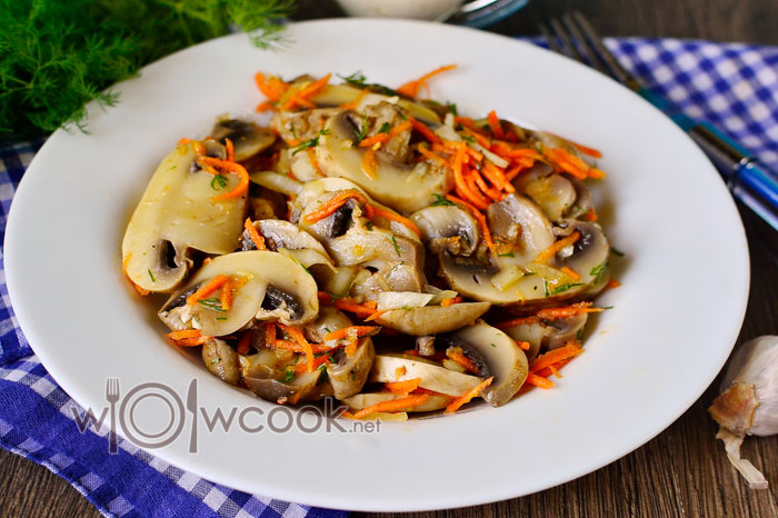 Шампиньоны маринованные по корейски рецепт