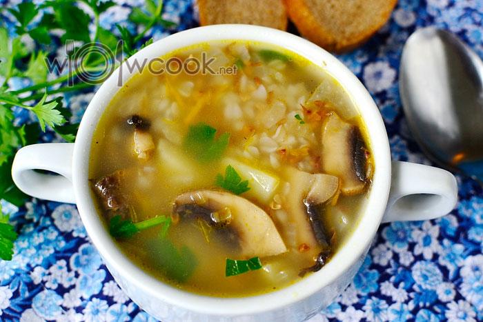 гречневый суп с шампиньонами быстро и вкусно