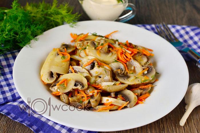 Шампиньоны по-корейски рецепт в домашних условиях