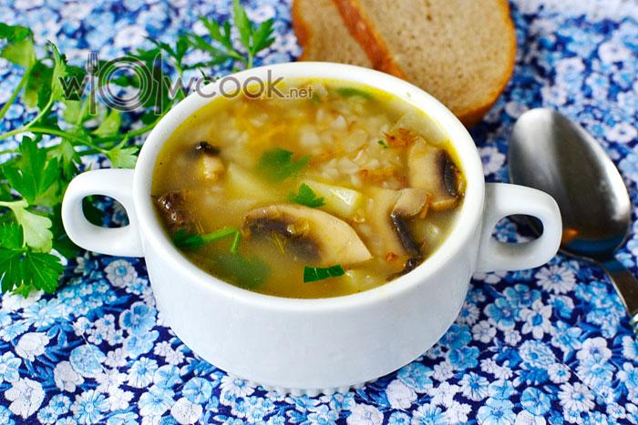Гречневый суп с грибами пошагово с фото