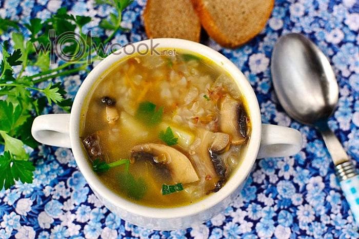 гречневый суп с шампиньонами рецепт с фото