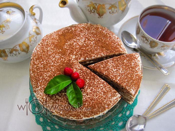 Шоколадный торт на сковороде, рецепт с фото