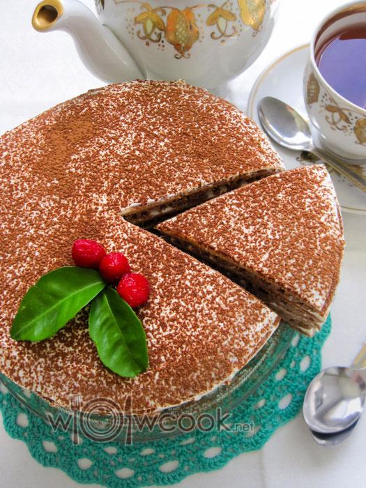 шоколадный торт без духовки