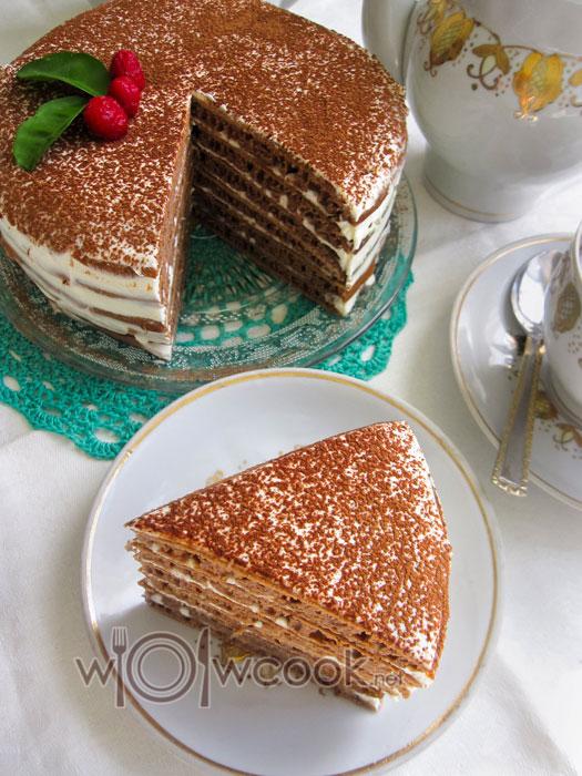 быстрый и простой шоколадный торт на сковородке