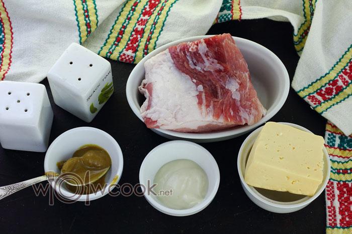 ингредиенты для рулетиков из свинины