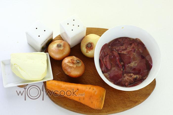 ингредиенты для печеночного паштета