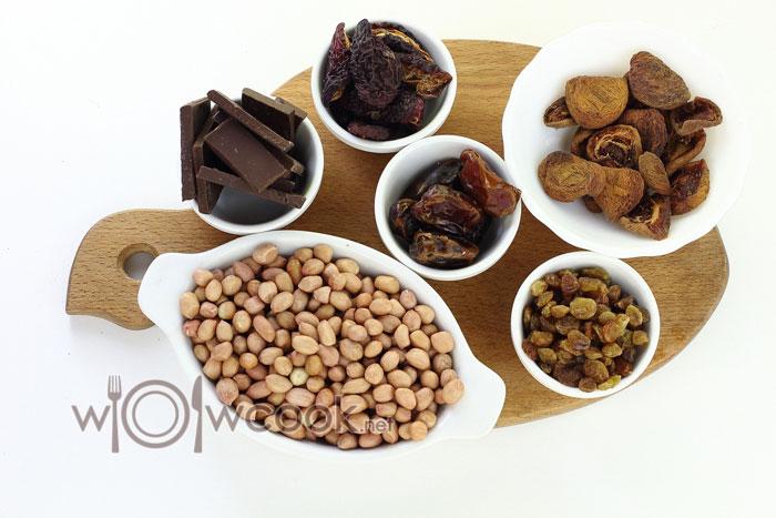 Ингредиенты для конфет из сухофруктов