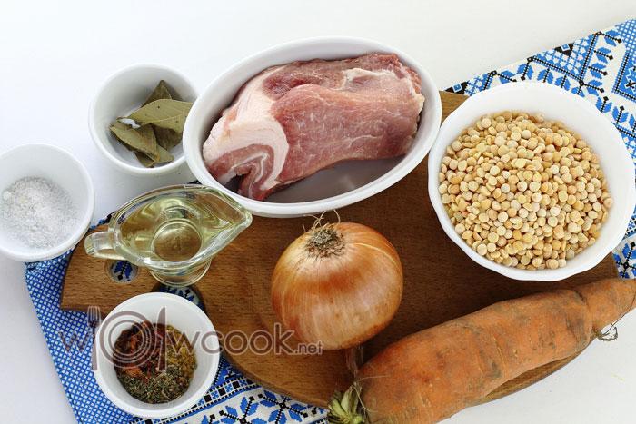 Ингредиенты для гороховой каши