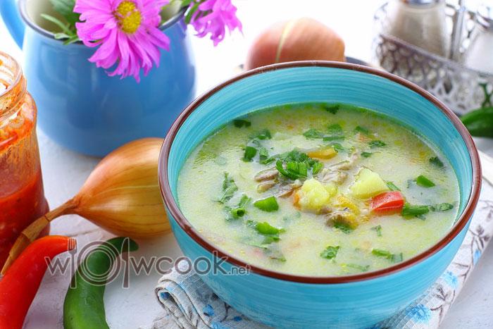 суп из куриных шеек