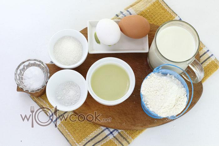 ингредиенты для толстых блинов