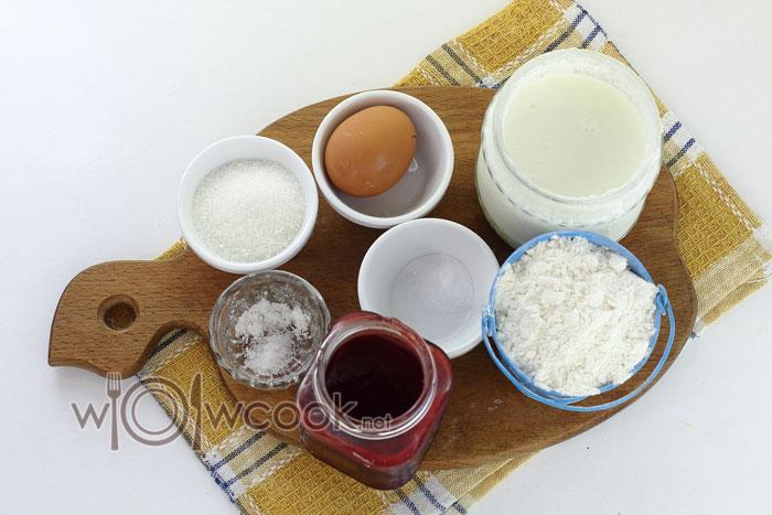 Ингредиенты для ленивых пирожков