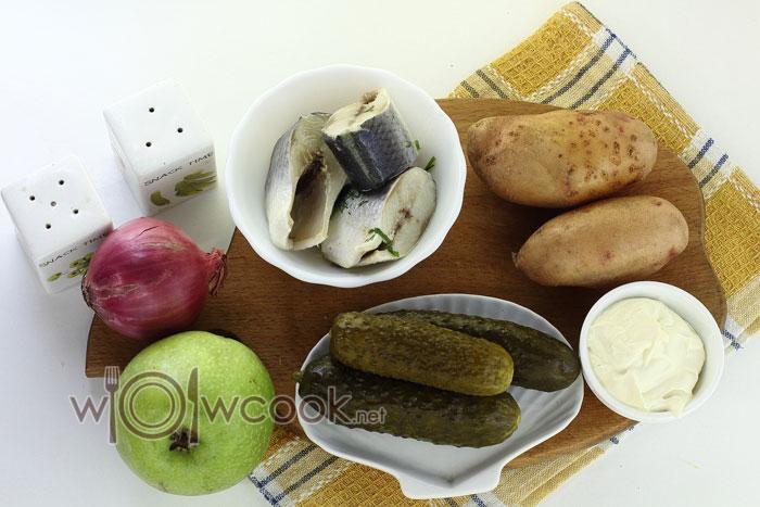 Ингредиенты для салат картофельный с сельдью