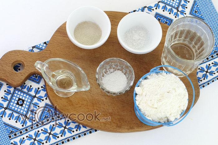 Ингредиенты для грузинского лаваша