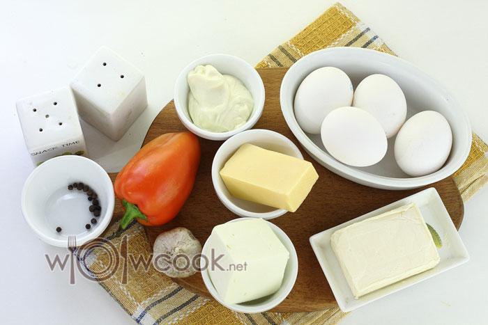 Ингредиенты для приготовления фаршированных яиц
