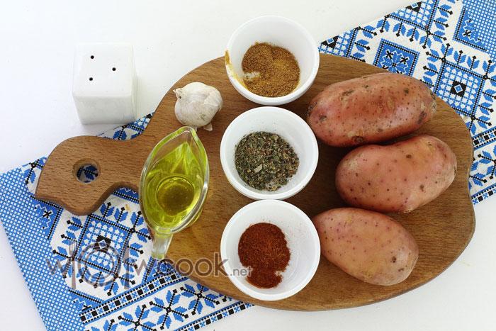 Ингредиенты для картошки дольками