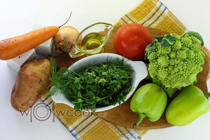 Ингредиенты для овощного супа