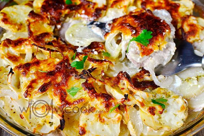 картошка по королевски в духовке