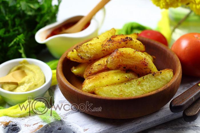 картошка дольками в духовке с корочкой